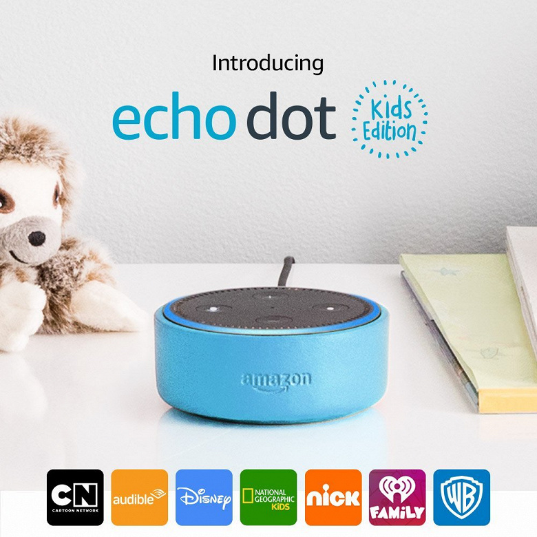 Умная АС Amazon Echo Dot Kids Edition стоит $80