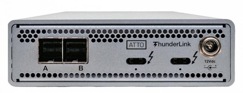 ATTO ThunderLink SH 3128 позволяет подключить к порту Thunderbolt 3 устройства с интерфейсом SAS или SATA
