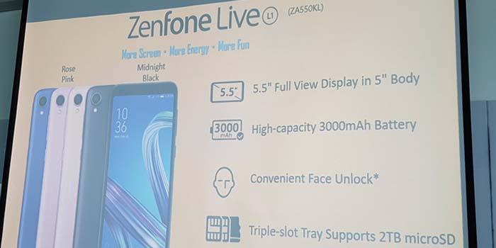 Смартфон Asus Zenfone Live L1 получил ОС Android Go