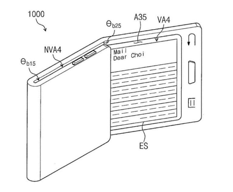 В новом патенте Samsung, возможно, описывается первый смартфон со сгибающимся дисплеем Galaxy X