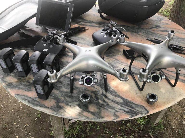 На новых снимках дрона DJI Phantom 5 хорошо виден контроллер и камера со сменным объективом