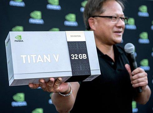 Глава Nvidia подарил 20 карт Titan V разработчикам искусственного интеллекта