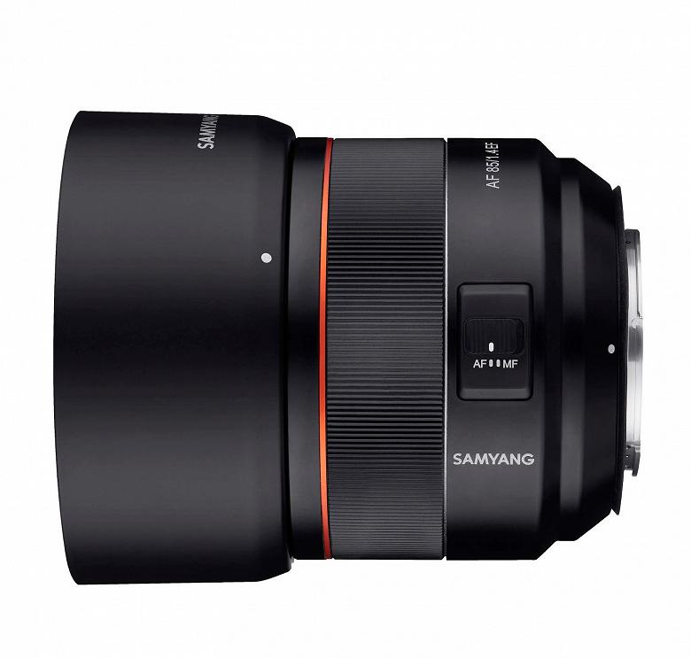 Появились изображения объектива Samyang AF 85/1.4 EF для камер Canon
