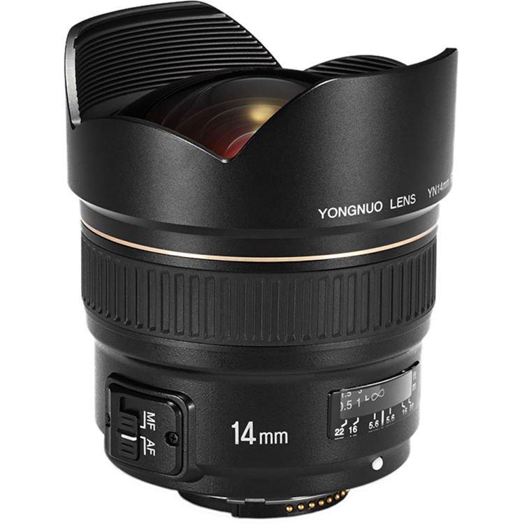 Начались продажи объектива Yongnuo YN14mm F2.8