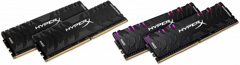HyperX расширяет линейку модулей памяти Predator DDR4 и Predator DDR4 RGB