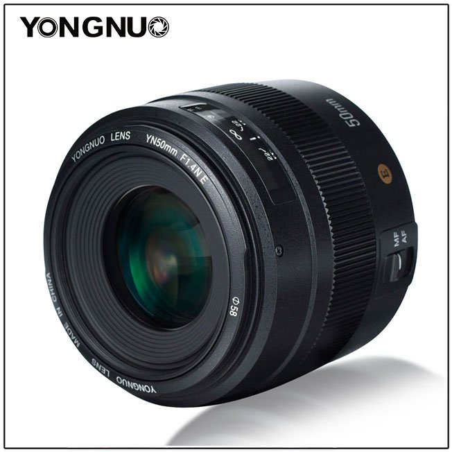 Объектив Yongnuo YN 50mm f/1.4NE II с креплением Nikon F оснащен электромагнитной диафрагмой