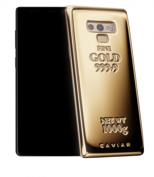 Caviar просит за 3 870 000 рублей за Samsung Galaxy Note9, покрытый килограммом чистого золота