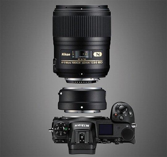 Nikon-Z-mirrorless-camera-with-FTZ-adapt