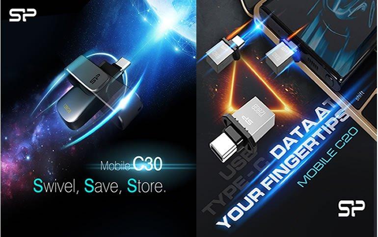 Флешки Silicon Power Mobile C20, C21 и C30 оснащены разъемами USB-C