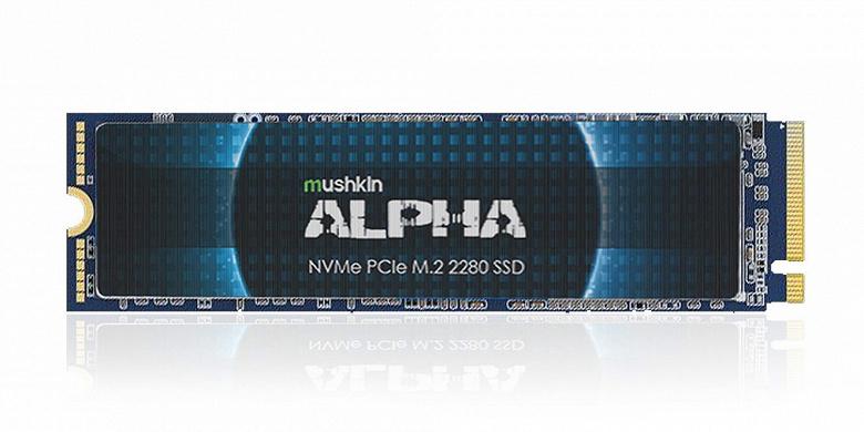 Серия Mushkin Alpha включает твердотельные накопители объемом 4 и 8 ТБ
