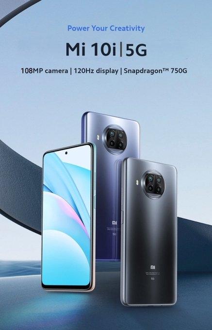 Официальные изображение и характеристики Xiaomi Mi 10i за две недели до анонса