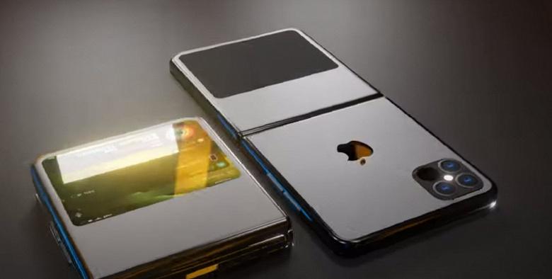 Сгибающийся смартфон Apple iPhone 12 Flip впервые показан в неофициальном видео