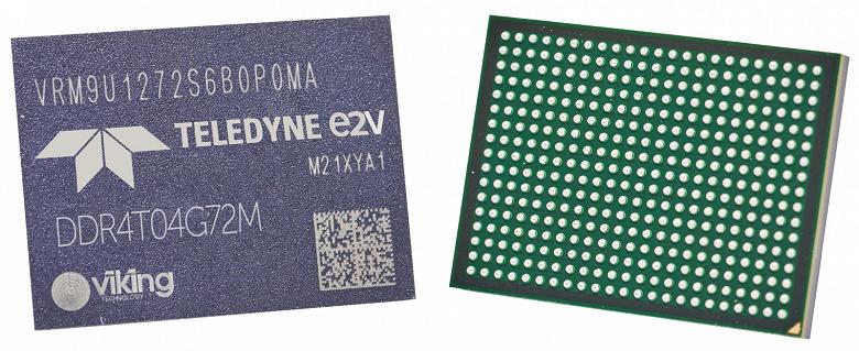 У Teledyne e2v готова первая радиационно-стойкая память DDR4 для космических применений