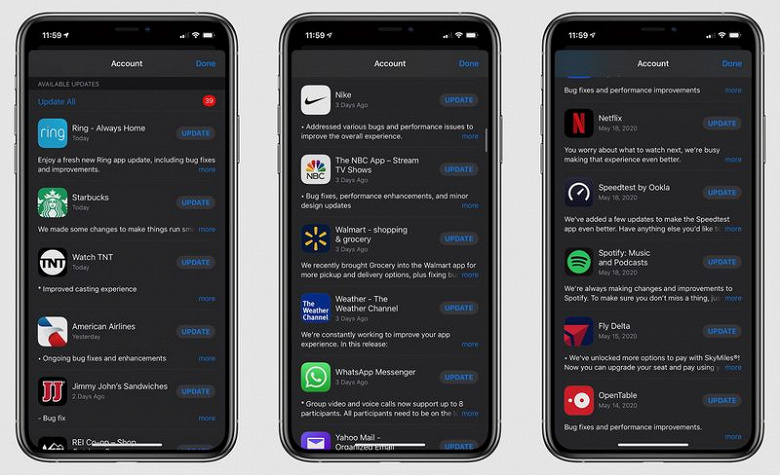 Apple починила приложения на iPhone. Для этого требуется установить «сотни» обновлений