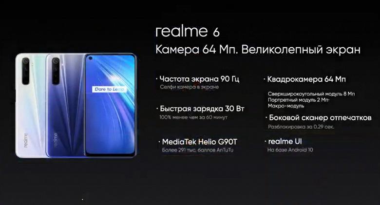MediaTek Helio G90T и 64-мегапиксельная квадрокамера за 17990 рублей. Realme 6, Realme 6 Pro и Relme 6i представлены в России