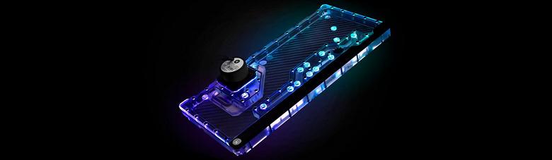 Резервуар-распределитель EK-Quantum Reflection PC-O11D XL D5 PWM D-RGB – Plexi оснащен индикатором потока охлаждающей жидкости