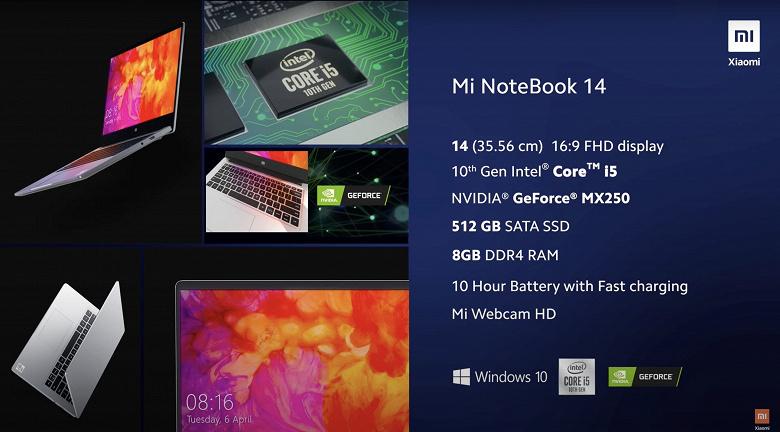Xiaomi представила новейшие ноутбуки. Анонс Xiaomi Mi NoteBook 14 и NoteBook 14 Horizon Edition