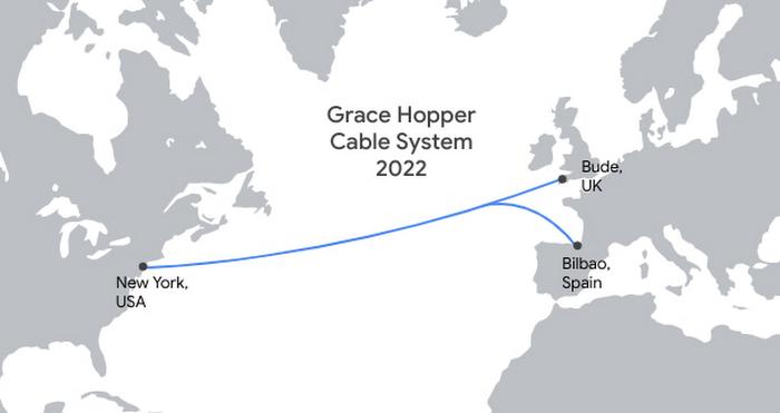 Google планирует провести новый интернет-кабель по дну Атлантики