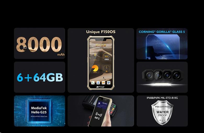 Вышел первый смартфон на базе F150 OS