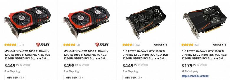Nvidia действительно вернула в продажу древнюю GeForce GTX 1050 Ti. За неё сейчас просят больше, чем пять лет назад