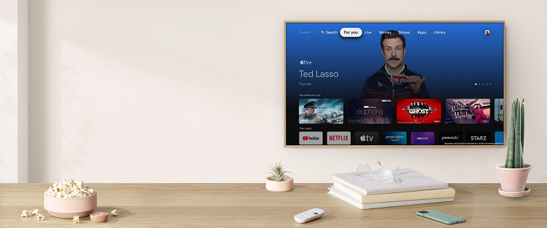 Google TV и Apple TV встретились. В оболочке Android TV появилась поддержка приложений Apple