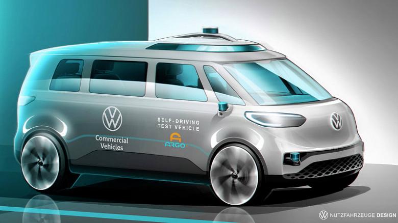 VW будет обкатывать собственную систему самоуправляемого движения на электрическом микроавтобусе ID. Buzz