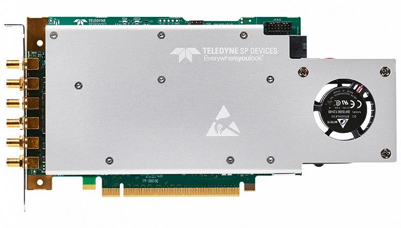 Плата сбора данных Teledyne SP Devices ADQ32 поддерживает оцифровку с 12-разядным представлением данных и частотой 2,5 млрд выборок в секунду