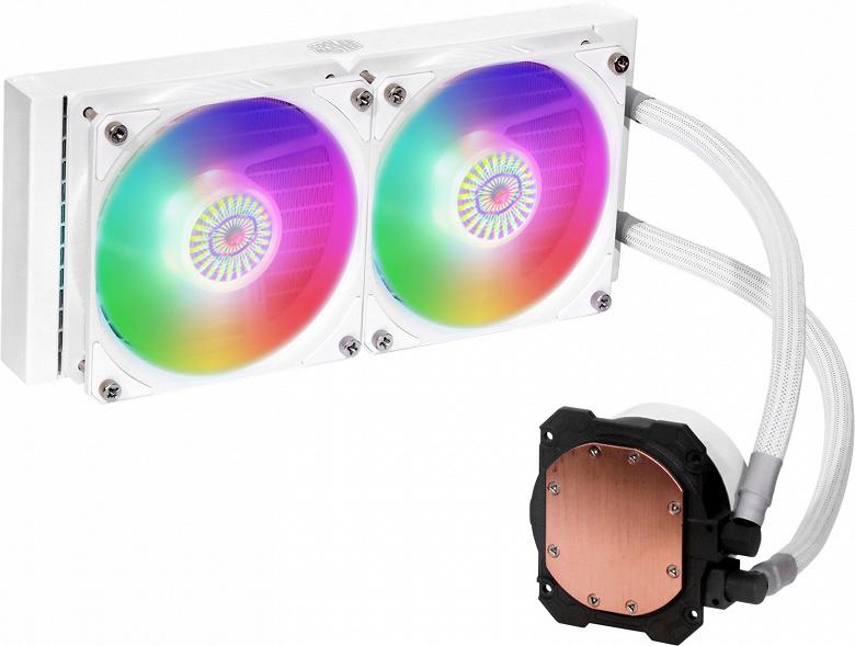 Белые СЖО Cooler Master Masterliquid ML360L V2 ARGB White Edition и Masterliquid ML240L V2 ARGB White Edition украшены адресуемой подсветкой