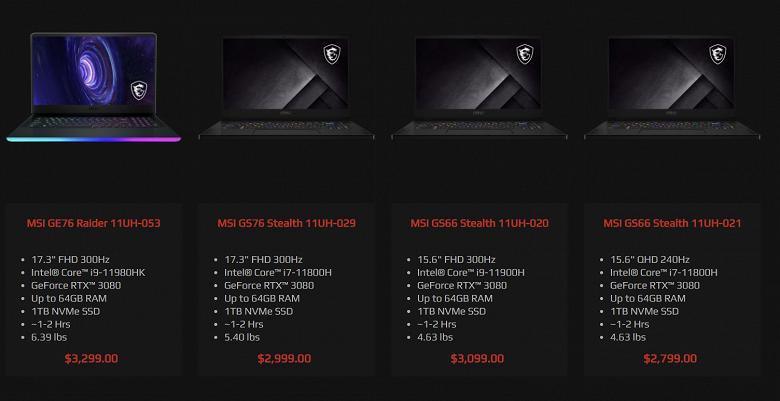 Наконец-то и Intel выпустит новые мощные мобильные процессоры. Ноутбуки с CPU Tiger Lake-H45 уже засветились в магазинах