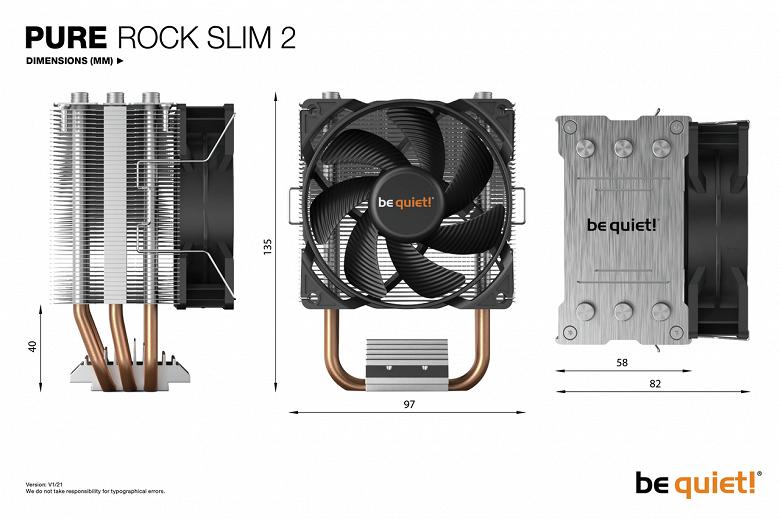 Ассортимент be quiet! пополнила процессорная система охлаждения Pure Rock Slim 2