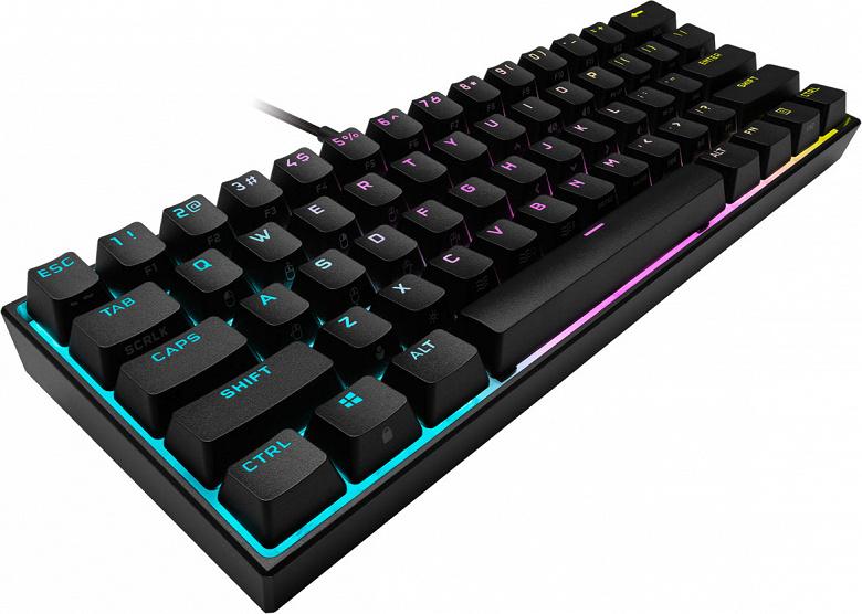 Механическая игровая клавиатура Corsair K65 RGB mini стоит 110 долларов