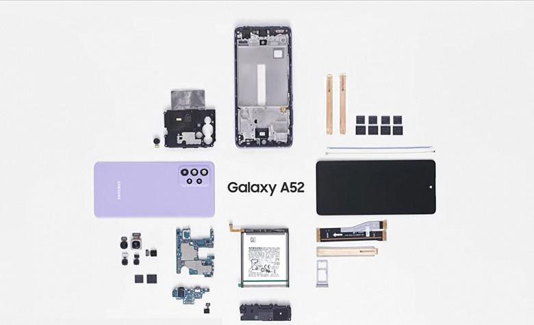 Так выглядит новейший Samsung Galaxy A52 изнутри. Samsung показала, как собирают смартфон, а также рассказала о других его особенностях
