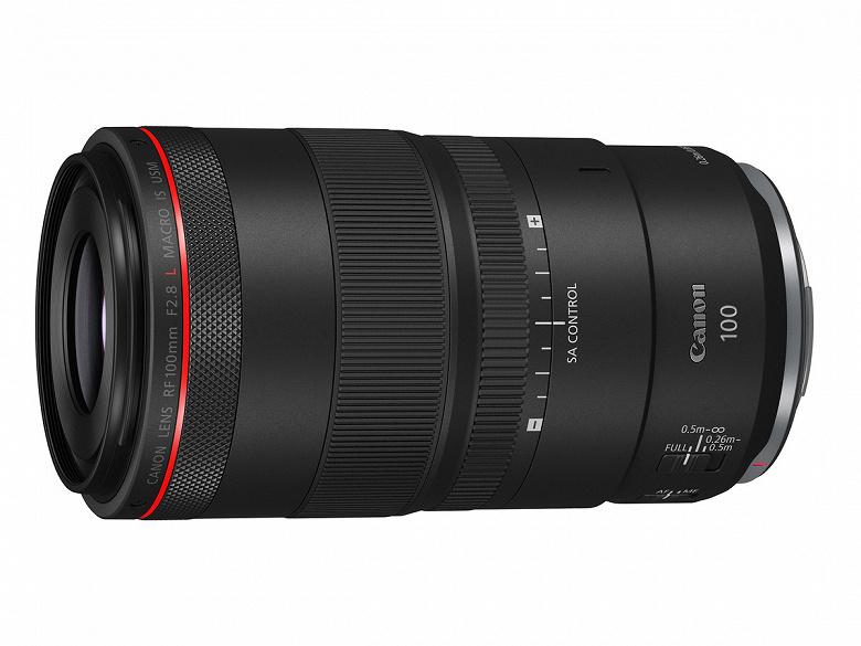 Представлен объектив Canon RF 100mm F2.8L Macro IS USM
