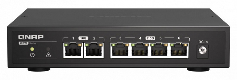 Коммутаторы серии Qnap QSW-2104 наделены портами 10GbE и 2.5GbE