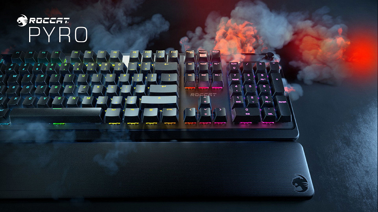 Игровая клавиатура Roccat Pyro Mechanical RGB стоит 100 долларов