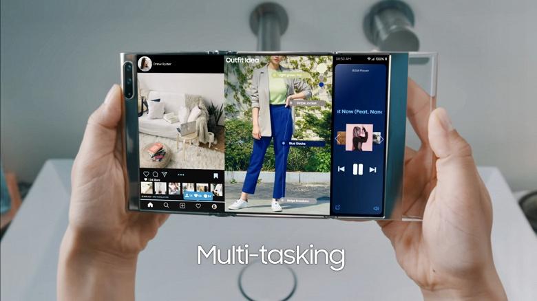 Samsung, это фантастика или ближайшее будущее Компания показала концептуальные устройства с новыми дисплеями