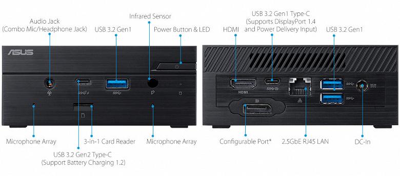 Основой мини-ПК Asus PN41 может быть процессор Intel Celeron или Pentium 11-го поколения (Jasper Lake)