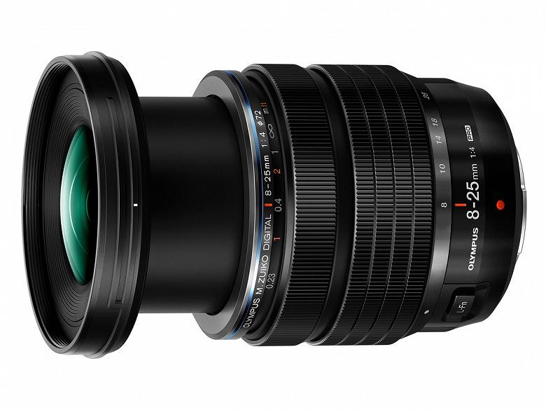 Представлен объектив Olympus M.Zuiko 8-25mm F4 Pro системы Micro Four Thirds