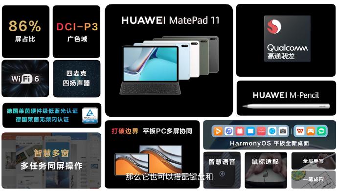 Экран 2К, 120 Гц, Snapdragon 865, 7250 мАч. Huawei MatePad 11  ещё один планшет Huawei на платформе Qualcomm и с HarmonyOS 2.0