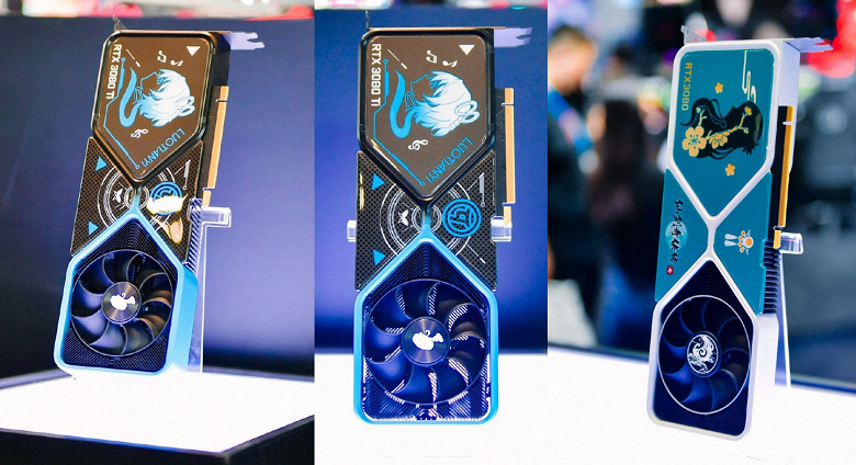 GeForce RTX 3080, которые невозможно купить. Nvidia показала три уникальных адаптера