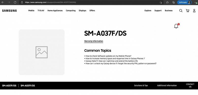5000 мА·ч и двойная камера недорого. Samsung Galaxy A03s готовится к дебюту