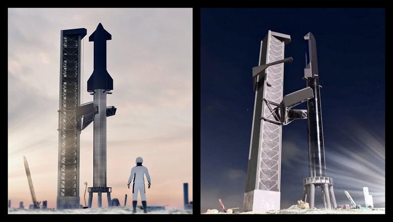 Гигантская Mechazilla встречает ракету Space Heavy и корабль Starship: Илон Маск комментирует новую визуализацию