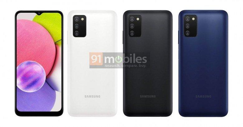 Очередной бюджетник Samsung с хорошей автономностью и платформой MediaTek. Galaxy A03s полностью рассекречен