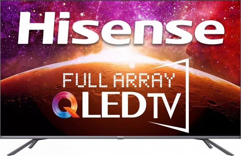 55-дюймовый QLED-телевизор с 4K, Dolby Vision, Dolby Atmos, 24 Вт чуть дороже $800. Представлен Hisense 4K QLED