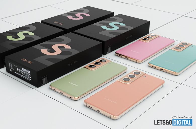 Samsung Galaxy S22 в разных цветах с упаковкой показали на качественных изображениях