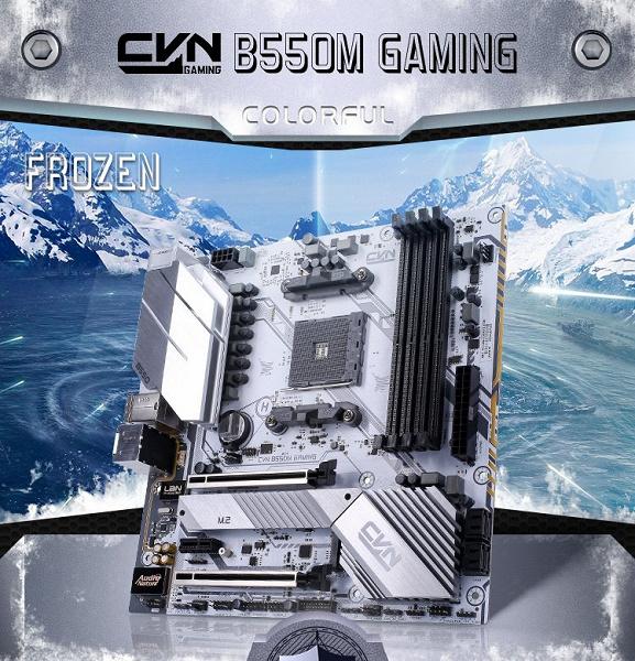 «Черным по белому» — системная плата CVN B550M Gaming Frozen V14