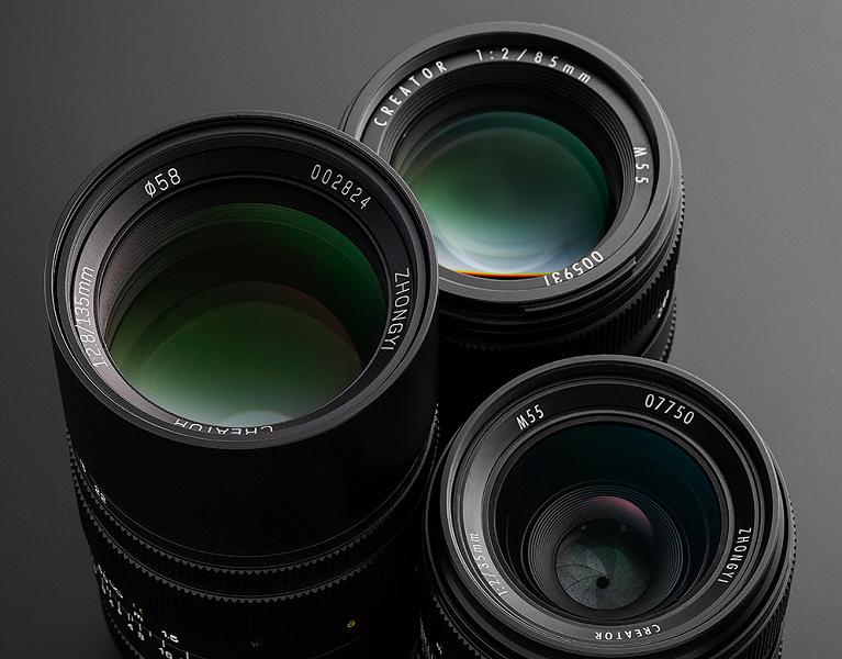Три модели объективов серии Mitakon Creator вышли в варианте с креплением Fujifilm X