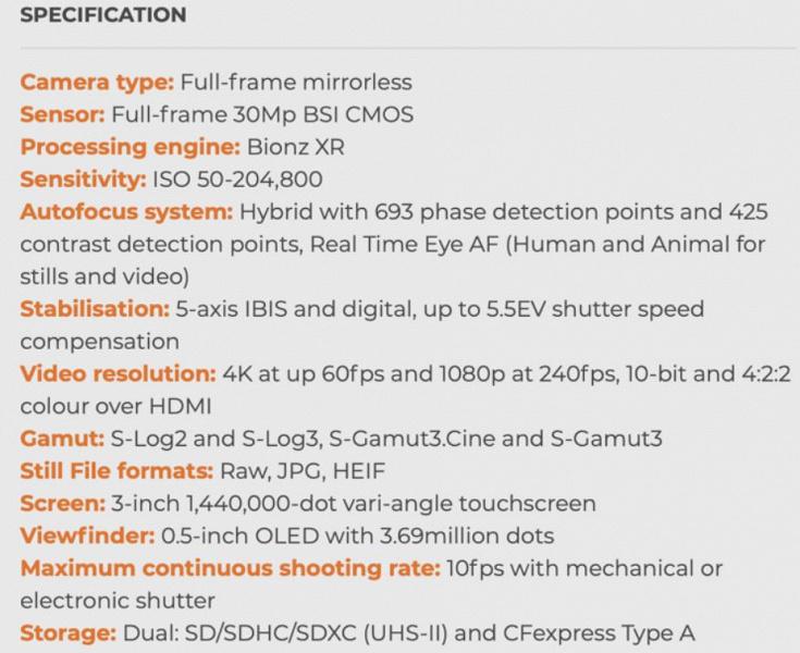 Запись видео 4К 60 к/с и 1118 точек системы автофокуса. Возможные характеристики беззеркальной полнокадровой камеры Sony a7 IV