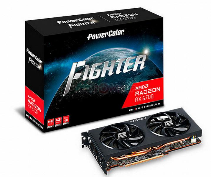 Это Radeon RX 6700, и у неё всего лишь 6 ГБ памяти. Появилось изображение модели PowerColor Fighter