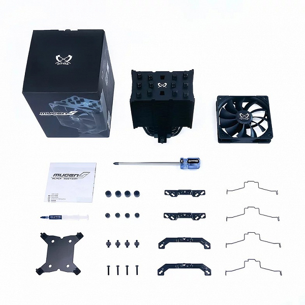 Система охлаждения Scythe Mugen 5 Black Edition отличается от исходной модели не только цветом